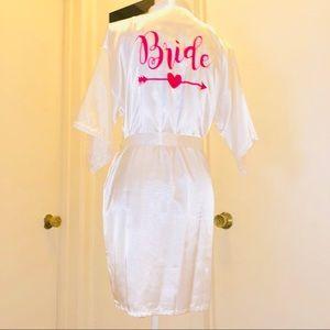 Other - Bride Kimono Wedding Day Night Satin Small NWOT